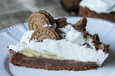 Banoffee με σοκολάτα Banoffee Pie, Greek Recipes, Pie Recipes, Recipies, Yams, Oven, Yummy Food, Sweets, Chocolate