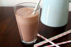peanut chocolate milkshake