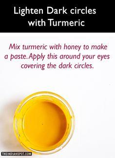 Get rid of Dark circles with Turmeric Skin Care Regimen, Skin Care Tips, Prevent Wrinkles, Beauty Hacks, Beauty Tips, Diy Beauty, Beauty Secrets, Homemade Beauty, Dark Circles