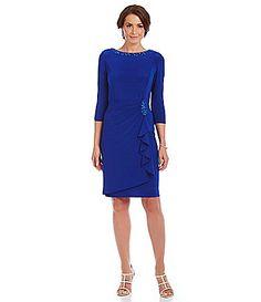 Alex Evenings Draped Sheath Dress #Dillards