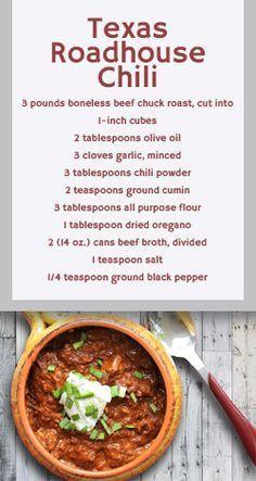 Texas Roadhouse Recipes To Make At Home-Texas Roadhouse Chili #chilirecipe #recipes