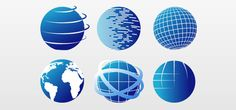 Free Vector Images – Globe Icon Set