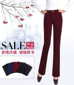 0fa6bf36dce Autumn and winter models corduroy large size high waist velvet pants women s  pants stretch thin wide