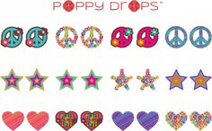 Poppy Drops! No ouch. No piercing.  Just fun.  We did a review: http://vickyandjen.blogspot.com/2013/04/poppy-drops-for-ellie.html.