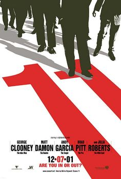 Stylish movie poster for Ocean's 11 by by Indika Entertainment Advertising