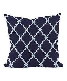Found it at Wayfair - Trellis Down Throw Pillow Modern Throw Pillows, Decorative Throw Pillows, Floor Pillows, Bed Pillows, Navy Pillows, Cushions, Red Persian Rug, Down Throw, Patterned Armchair