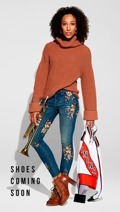 Free People PARK CITY PULLOVER Blanknyc CROPPED SKINNY CLASSIQUE W/ EMBROIDERY