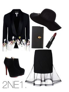 2NE1 - Missing You by scarleteye18 on Polyvore featuring polyvore, fashion, style, Erdem, Alexander McQueen, Dorothy Perkins, NARS Cosmetics, kpop, 2NE1, cl and Missingyou