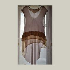 Asymmetrical tunic sleeveless women's knitwear tunic