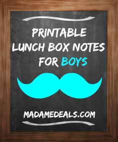 Back to School Printable Lunch Box Notes for Boys