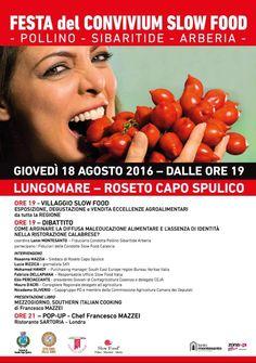 Stasera a Roseto Capo Spulico alla Festa Slow Food Pollino-Sibaritide-Arberia con le nostre marmellate artigianali