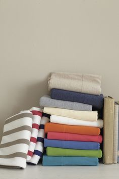 In Idaho it's quite chilly for most of the school year, Jersey Knit Bedding in white will keep me warm at night!