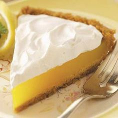 Simple Lemon Pie  This pie is great, takes a while to set but for the diabetics in my family it's like they are cheating!!