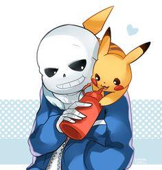 Pikachu and Sans