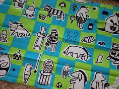 "Marimekko Nalle fabric fat quarter 19"" x 28"" cotton, Finland, adorable #Marimekko"