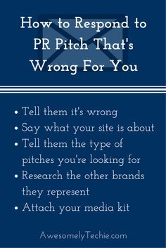 How to Respond to a PR Pitch That's Wrong for You | Awesomely Techie