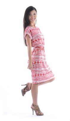 Zoey Printed Dress w/ Belt