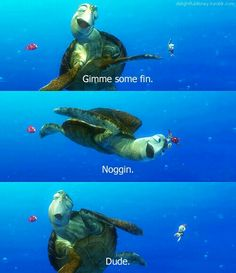 Finding Nemo / Disney Quote reminds me of chuck and ryan @Sharee Mason Earl