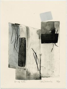 "dailyartjournal: "" Toko Shinoda, ""Brief Note"", lithograph """