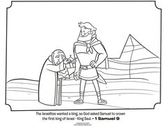 1 Samuel 9 Kids Coloring Page From Whats In The Bible Featuring Saul And Volume Israel Gets A King