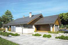 Zdjęcie projektu Pliszka V BBA2266 Home Fashion, Garage Doors, Cabin, House Styles, Outdoor Decor, Modern, Studio, Home Decor, Trendy Tree
