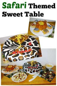DIY Safari themed sweet table - Mamaliefde.nl: