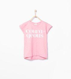 ZARA - KINDEREN - Shirt met tekstprint.