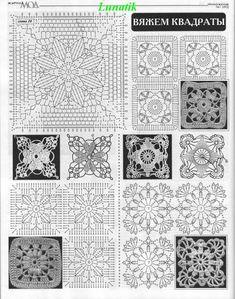 """Crochetcetera e tal: O que dá para fazer com os famosos """"quadradinhos"""""""