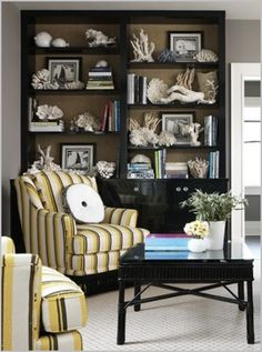 grasscloth bookcase