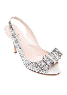 kate spade new york Silver Charm Glitter Pump - Available in Extended Sizes