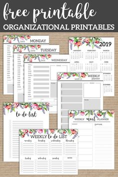 Floral Monthly Planner Template Pages Free Printable | Paper Trail Design