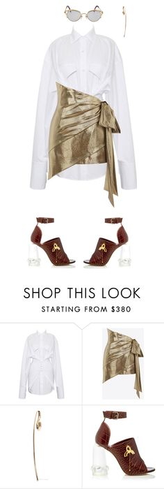 """."" by malsss ❤ liked on Polyvore featuring Yves Saint Laurent, Charlotte Chesnais, E L L E R Y and Jean-Paul Gaultier"