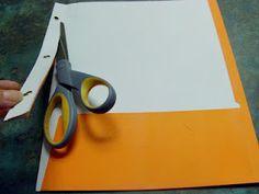 Making a four pocket folder