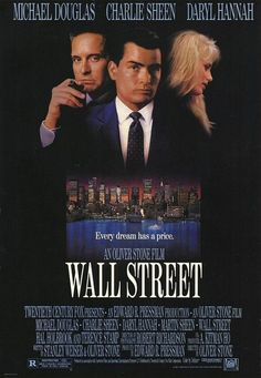 Wall Street - 1987 - directed by : Oliver Stone - cast : Michael Douglas, Charlie Sheen, Martin Sheen, John C. McGinley, James Spader, Daryl Hannah, Sylvia Miles, Oliver Stone
