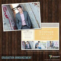 40% off Sale - INSTANT Download psd 5x7 Senior Graduation Announcement Card Template - G21