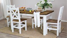 Originální jídelní stůl v provence stylů včetně jídelních židlí. Tloušťka desky až 4 cm! Provence, Outdoor Furniture Sets, Outdoor Decor, Dining Table, Home Decor, Homemade Home Decor, Diner Table, Dinning Table Set, Dining Room Table