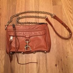 Rebecca Minkoff Mini Mac Used Mini Mac in the prettiest color! This has been well loved, but the inside is clean. There is slight jean transfer on the back, and my cat has chewed at the strings. Some have broken off shorter, please see photos. Rebecca Minkoff Bags Crossbody Bags