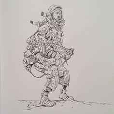 Sketchbook: Spacedude.