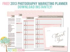 FREE! 2013 Photography Marketing Planner