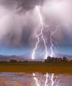Lightning Striking Longs Peak Foothills 6C by Striking Photography by Bo, via Flickr