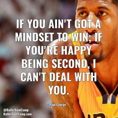 It's all about being consistent and having that aggressive mindset.