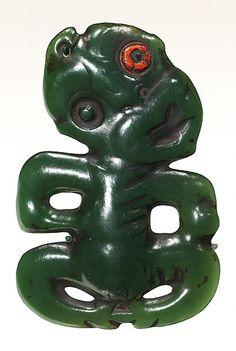 Maori Pendant [hei tiki], nephrite