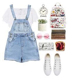 """First day of school"" by hermiona355 ❤ liked on Polyvore featuring Miguelina, Converse, Anya Hindmarch, ZeroUV, Newgate and Allstate Floral"