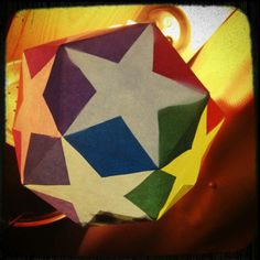 Paper pentagon star lantern Paper Star Lanterns, Paper Stars, Origami, Pentagon, Creative, Pattern, Crafts, Seaside, Traveling