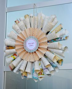 Book page wreath - story book baby shower
