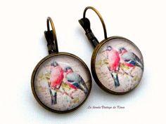Pendientes estilo vintage Pájaros de La tienda Vintage de Kima por DaWanda.com