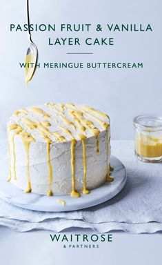 Impress guests this Easter with our showstopping passion fruit and vanilla layer cake. Tip: the sponges and curd can be made the day before to help with timings. Tap to see the full Waitrose & Partners recipe. Vanilla Layer Cake Recipe, Layer Cake Recipes, Layer Cakes, Cupcakes, Cupcake Cakes, Passion Fruit Cake, Just Desserts, Dessert Recipes, Passionfruit Recipes