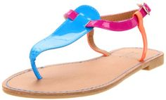 Neon Sandals, T Strap Sandals, Footwear, My Style, Amazon, Shoes, Fashion, Moda, Amazons