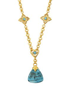 Long Agate Pendant Necklace by Jose & Maria Barrera at Neiman Marcus Last Call.