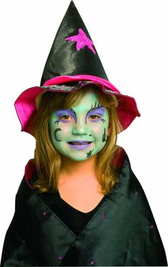 Bildergebnis für hexe schminken kind - New Ideas Kids Witch Makeup, Halloween Makeup Witch, Fun Halloween Crafts, Scary Halloween, Halloween Make Up, Kids Witch Costume, Costume Halloween, Witch Face Paint, Face Painting Halloween Kids
